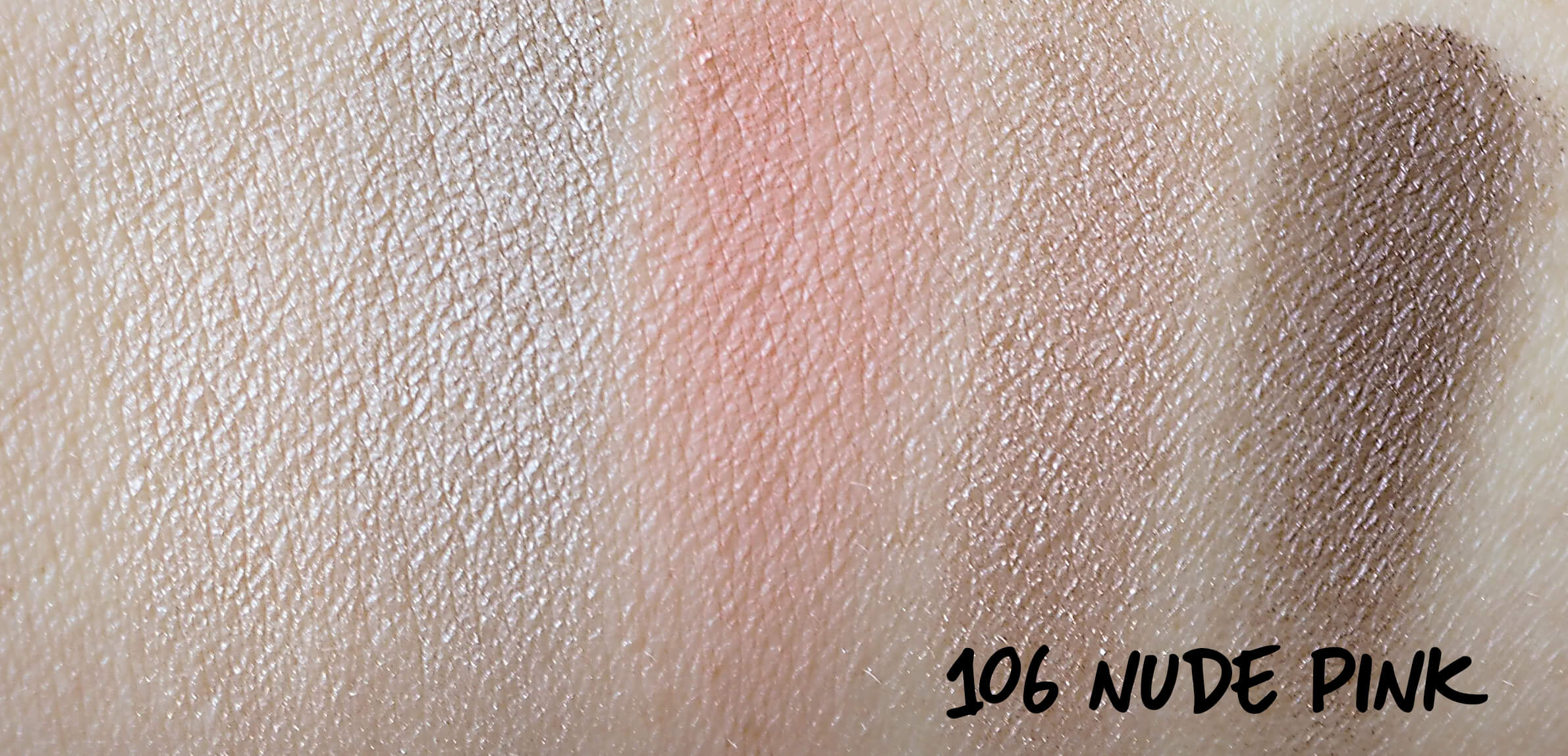 Swatches Golden Rose 106 NUDE PINK