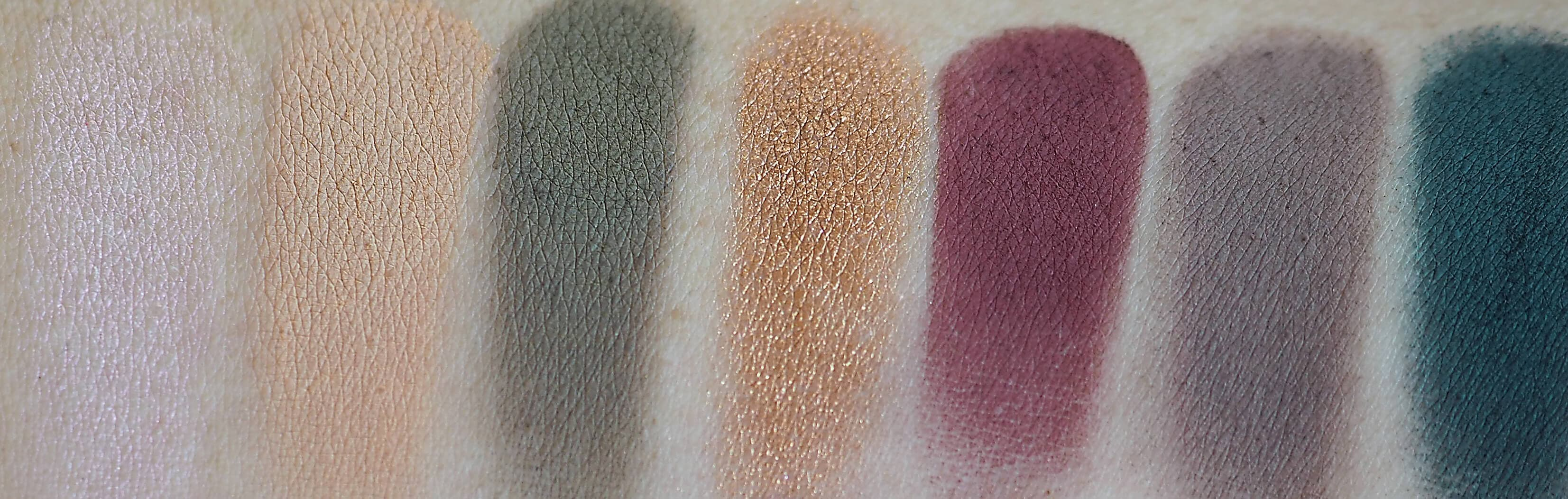 swatches SUBCULTURE EYESHADOW PALETTE