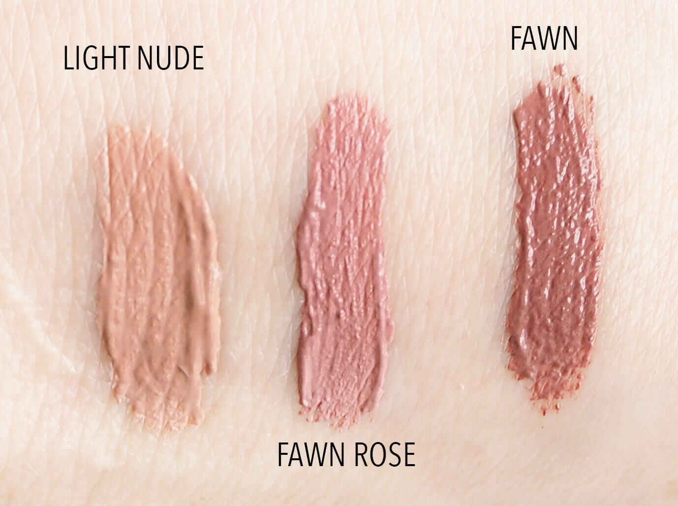 Swatch Light Nude, Fawn, Fawn Rose