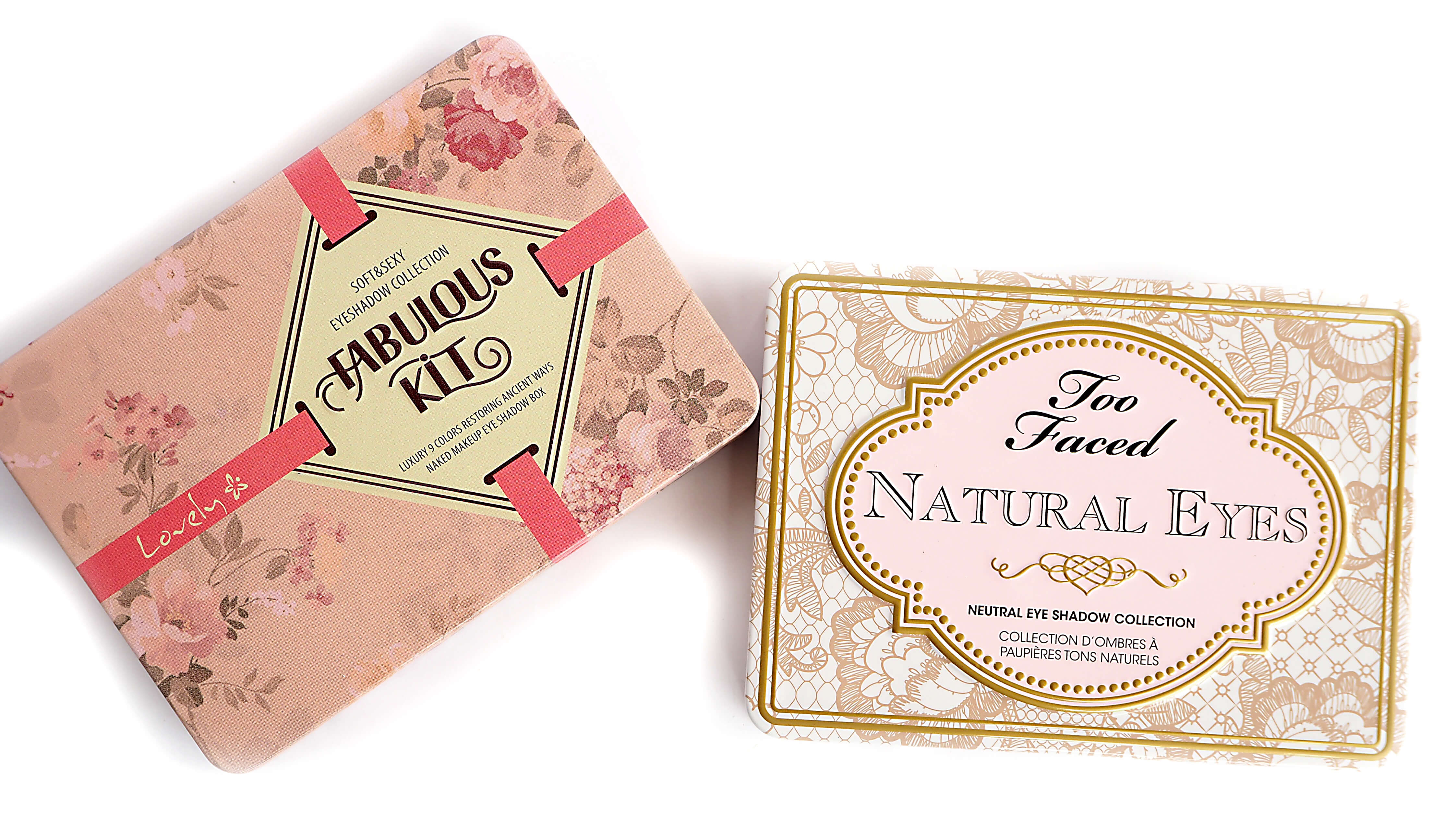Too Faced NATURAL EYES vs LOVELY FABULOUS KIT