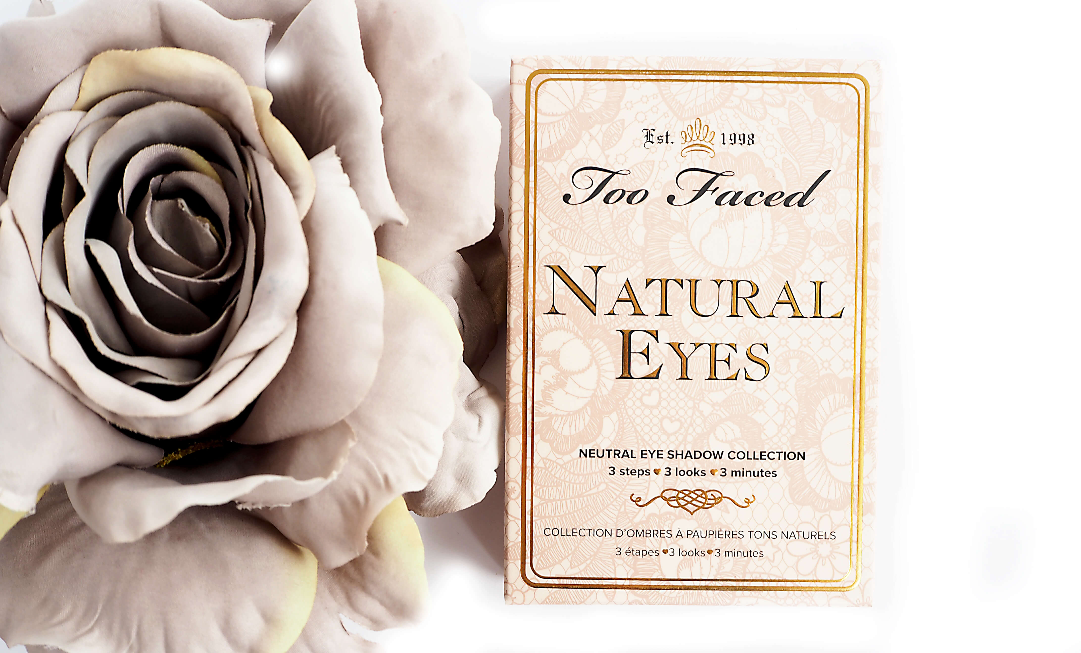 TOO FACED NATURAL EYES palette cieni SWATCHE