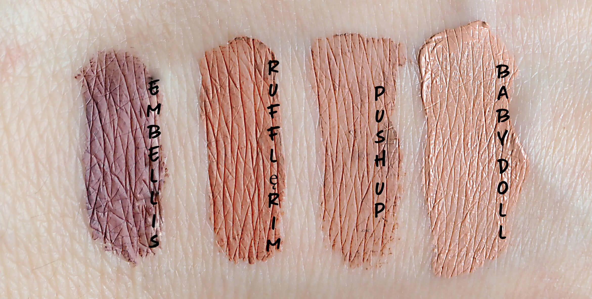 SWATCHES NYX LIP LINGERIE