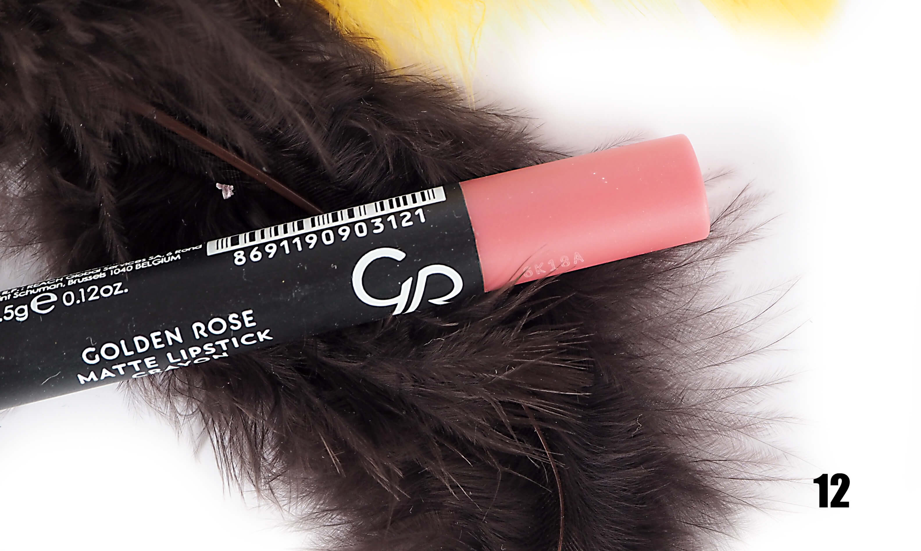 GOLDEN ROSE 12 MATTE LIPSTICK CRAYON