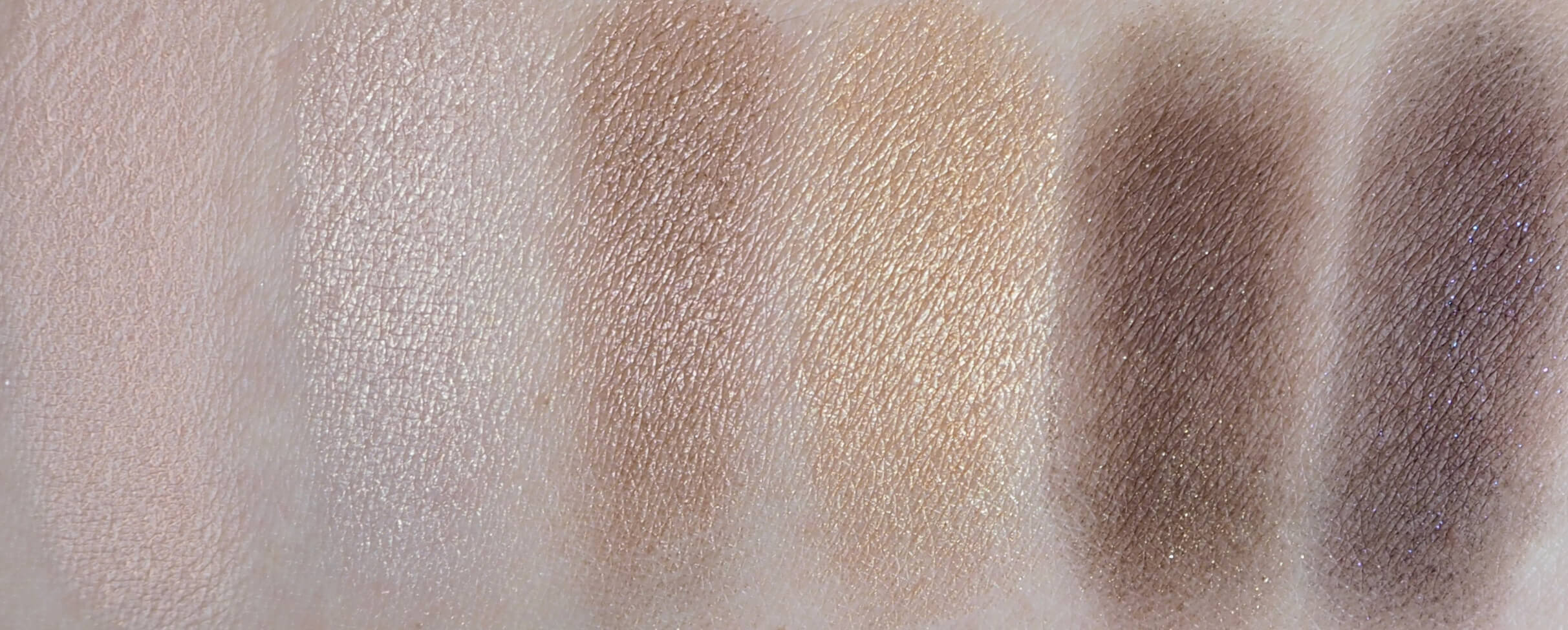 Swatches TOO FACED NATURAL LOVE