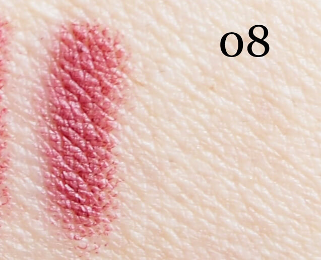 Swatch GOLDEN ROSE 08 MATTE LIPSTICK CRAYON