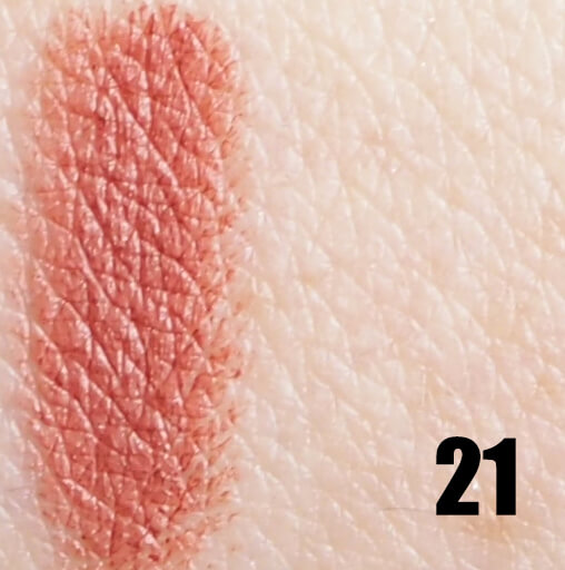 Swatch GOLDEN ROSE 21 MATTE LIPSTICK CRAYON