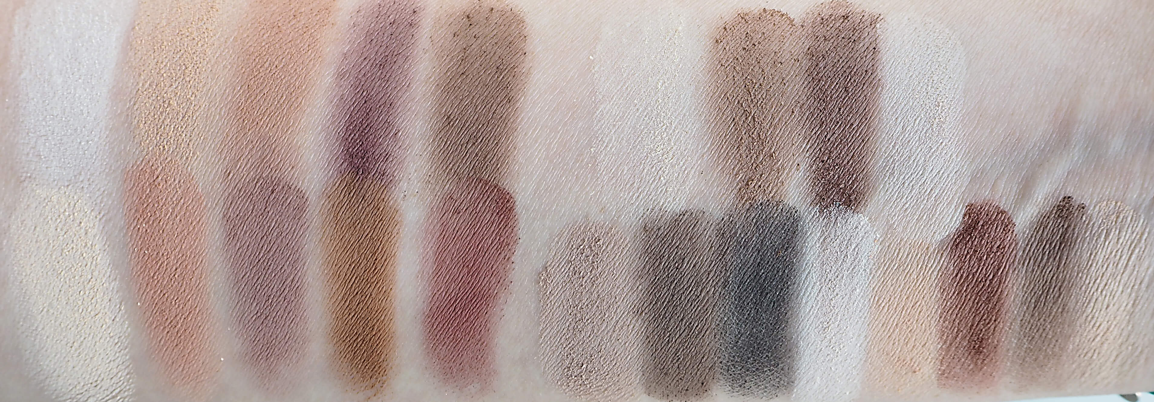 Porównanie Affect Naturally Matt do Kat Von D Light and Shade Eyes swatches