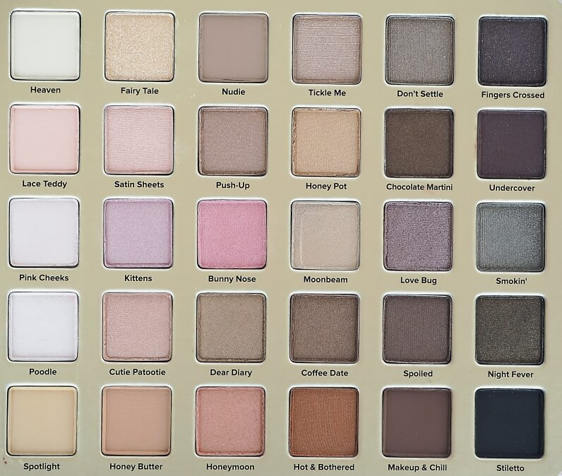 Kolory TOO FACED NATURAL LOVE