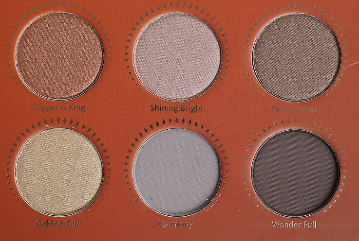 Kolory ZOEVA GOLDEN EYESHADOW PALETTE