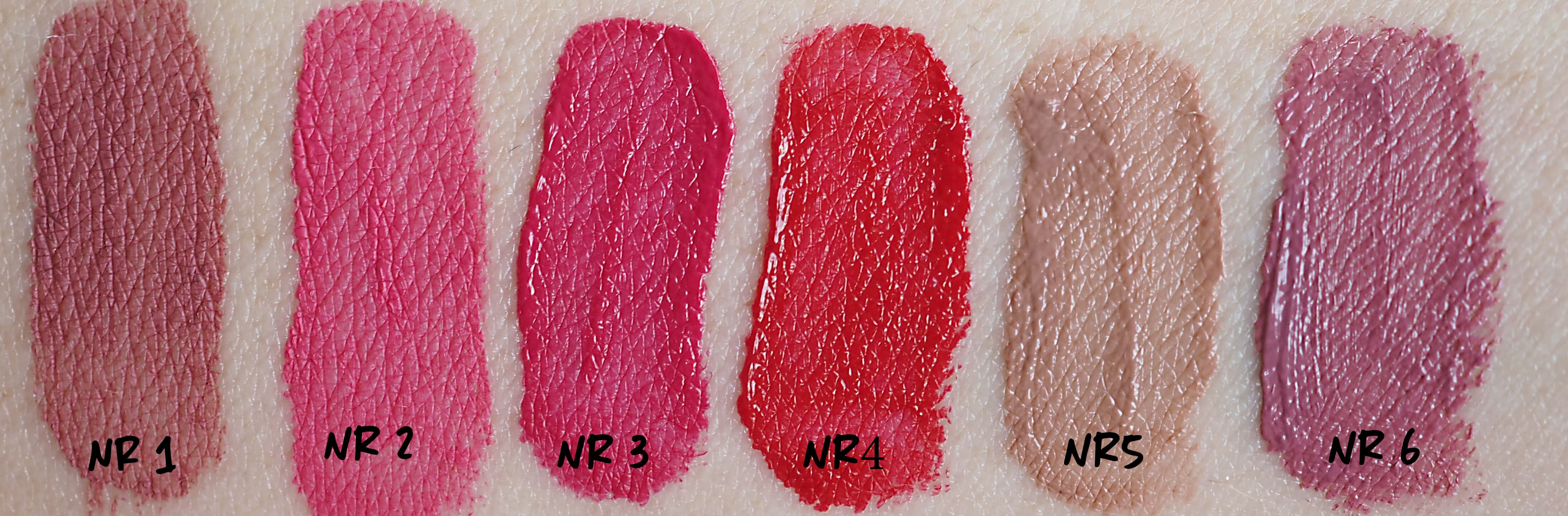 Swatches WIBO MILLION DOLLAR LIPS