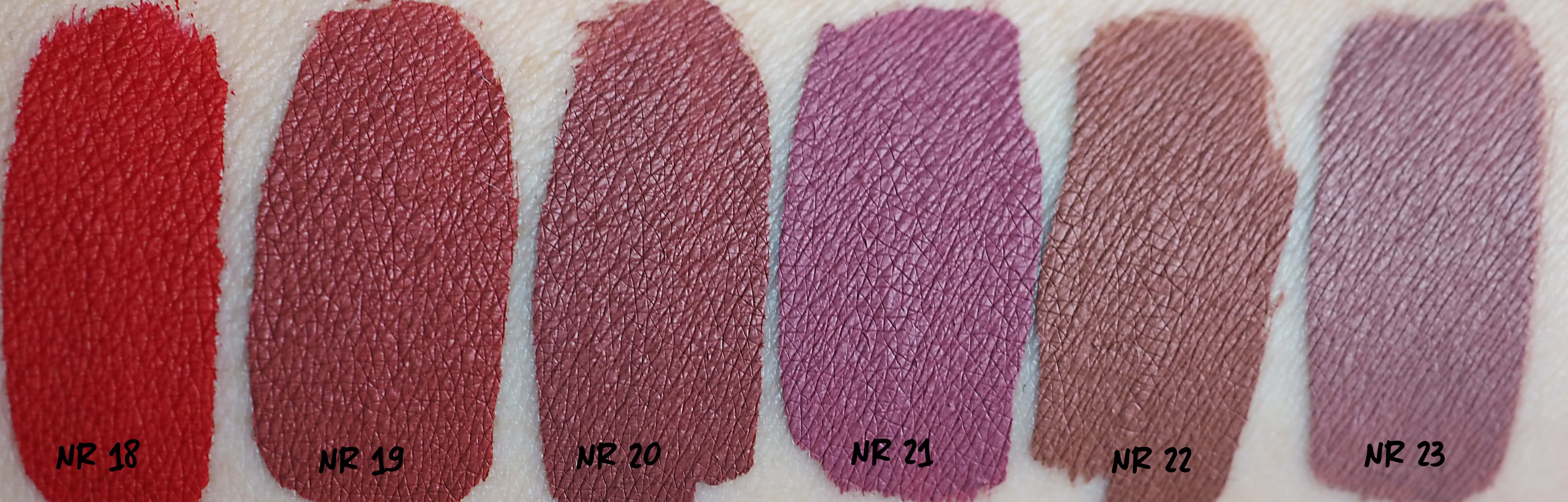 Swatches GOLDEN ROSE LONGSTAY LIQUID MATTE LIPSTICK