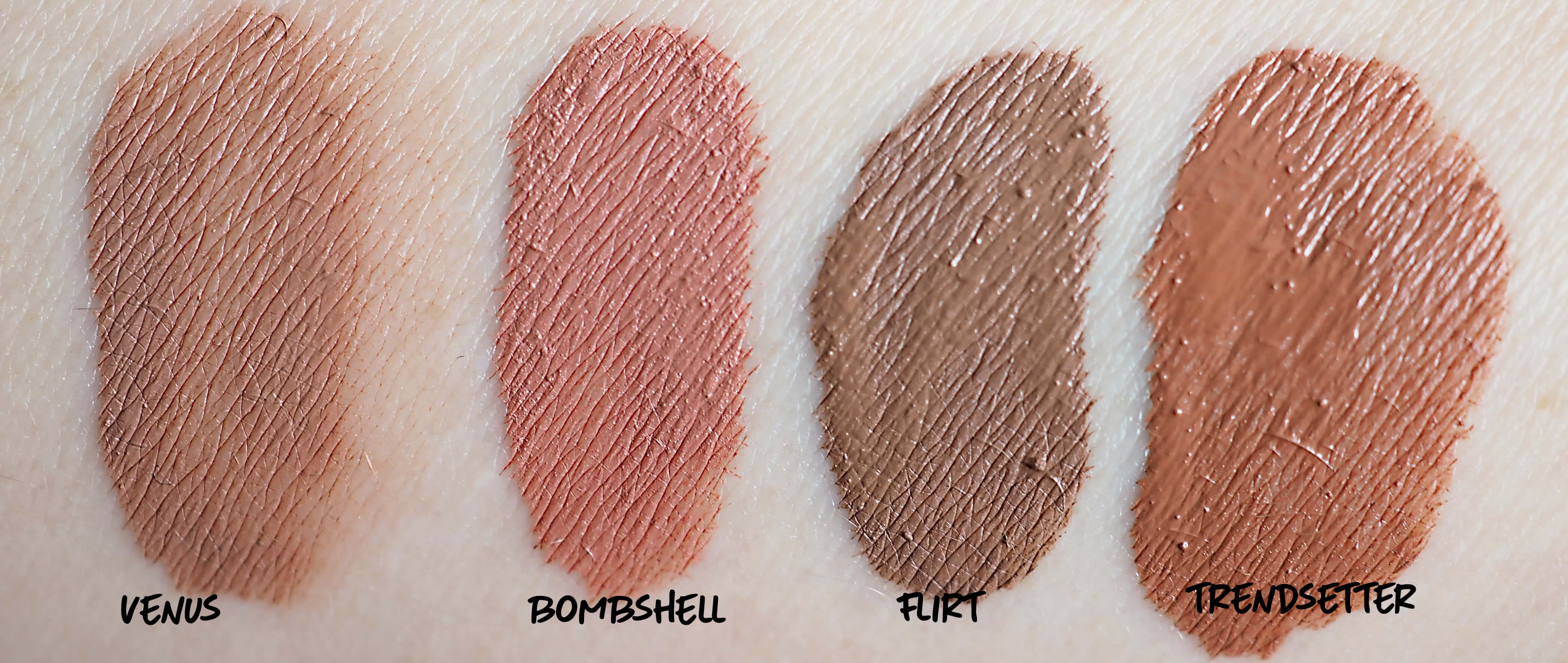 SWATCHES THE NUDE EDITION HUDA BEAUTY