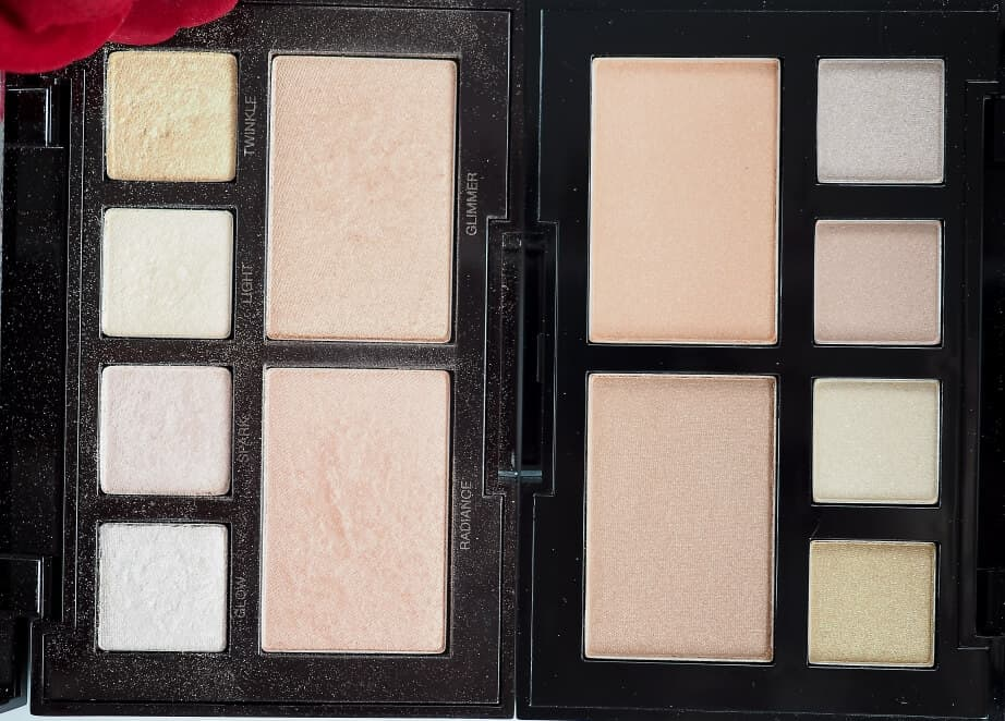 Porównanie W7 Glow for Glory do Laura Mercier Candleglow Illuminizing Palette