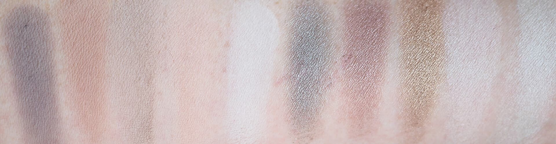 Swatches ZOEVA THE BASIC MOMENT EYESHADOW PALETTE