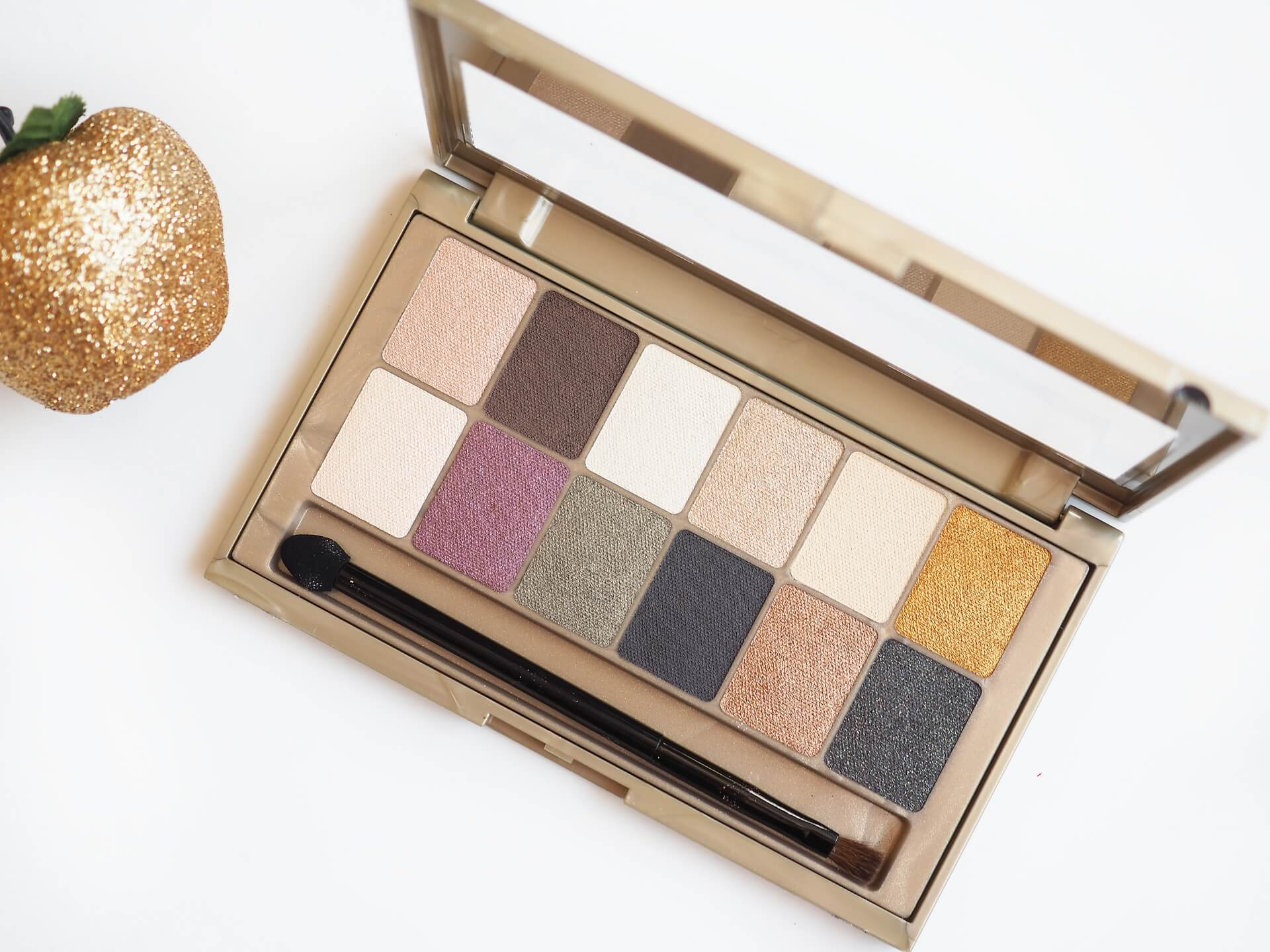 recenzja Maybelline The 24 Karat Nudes Eyeshadow Palette