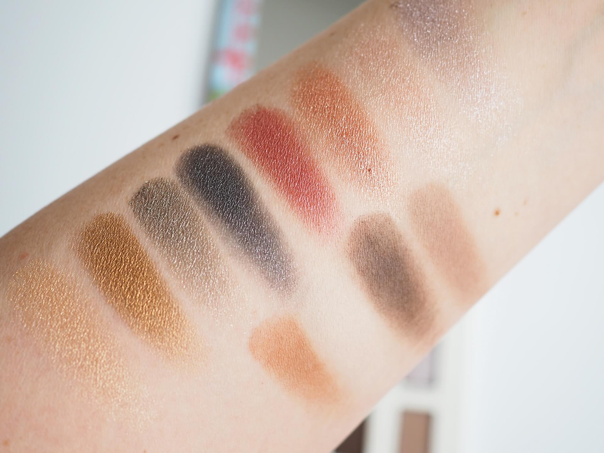 swatches The Balm Foiled Again Eyeshadow Palette