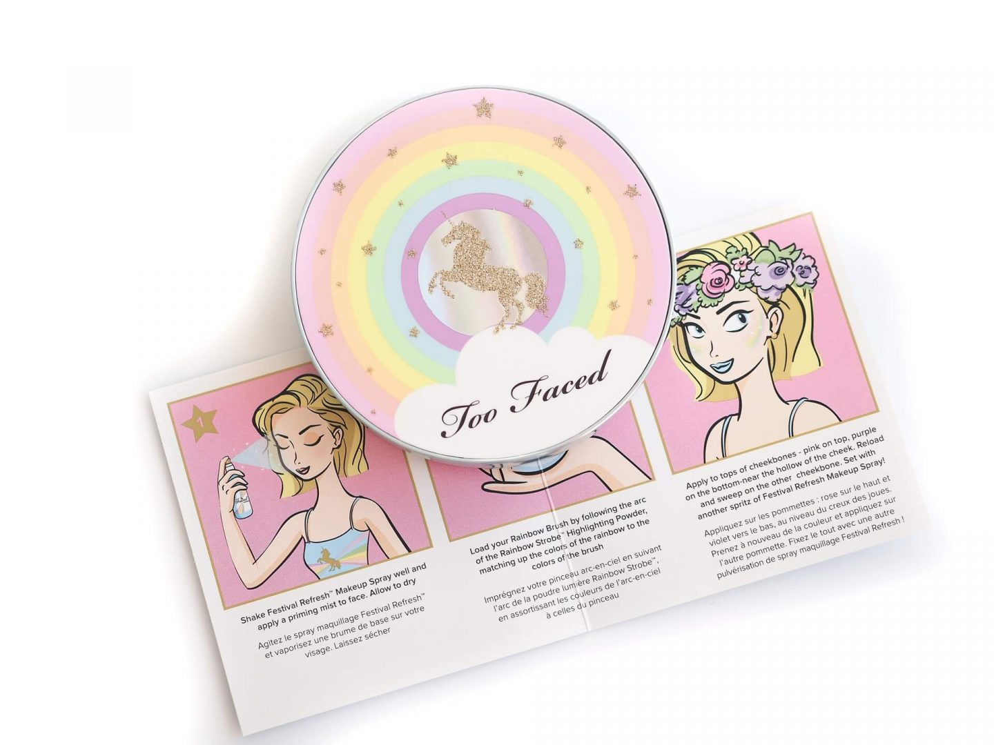 Too Faced Festival Rainbow Strobe Highlighter czyli tęczowy strobing