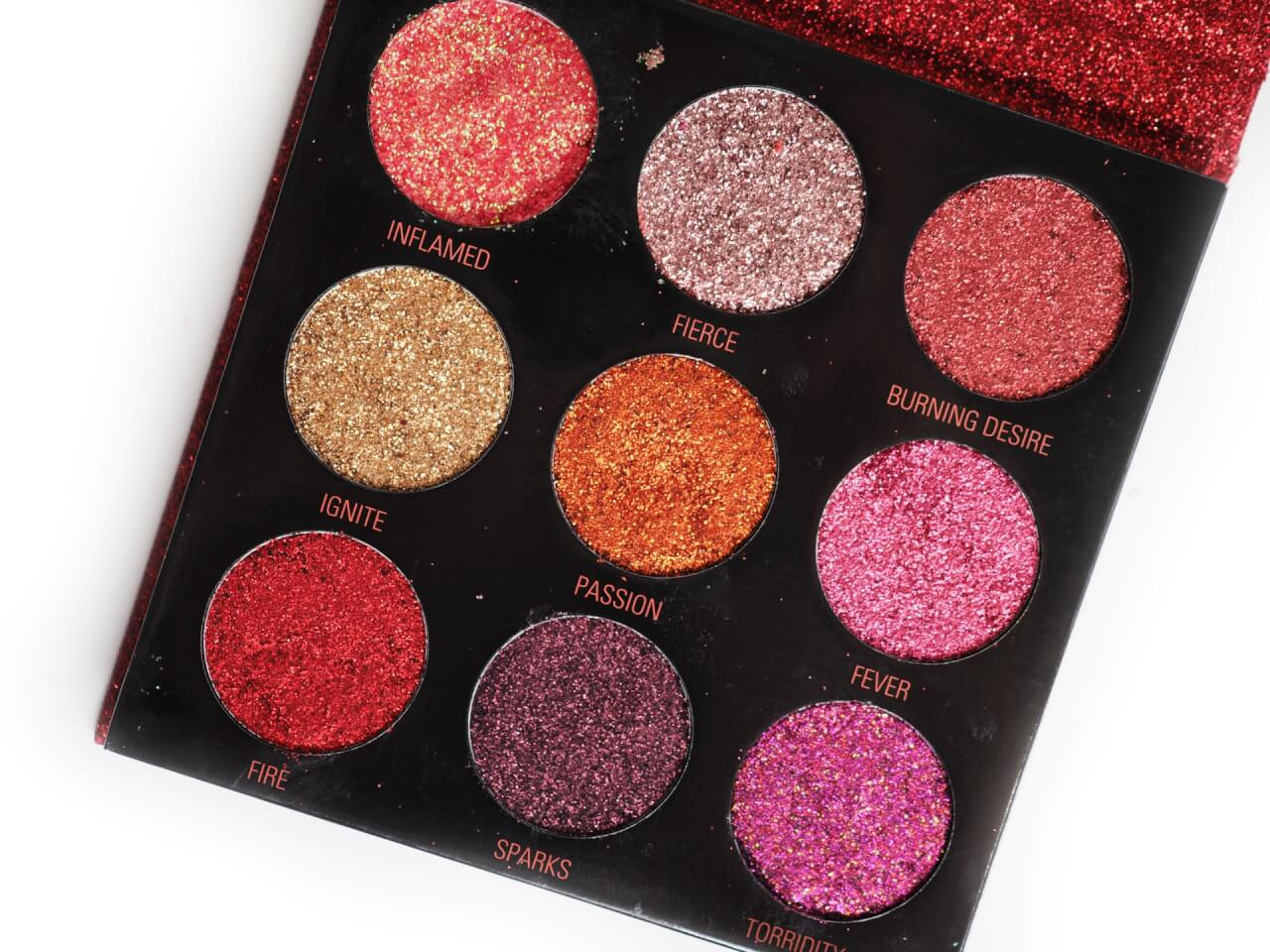 Makeup Revolution Pressed Glitter Palette Hot Pursuit