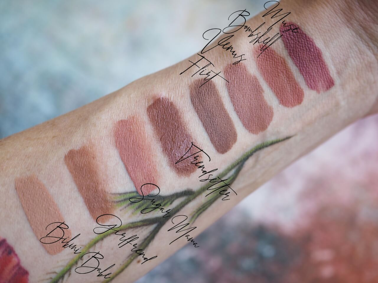 Swatches Huda Liquid Lipstick