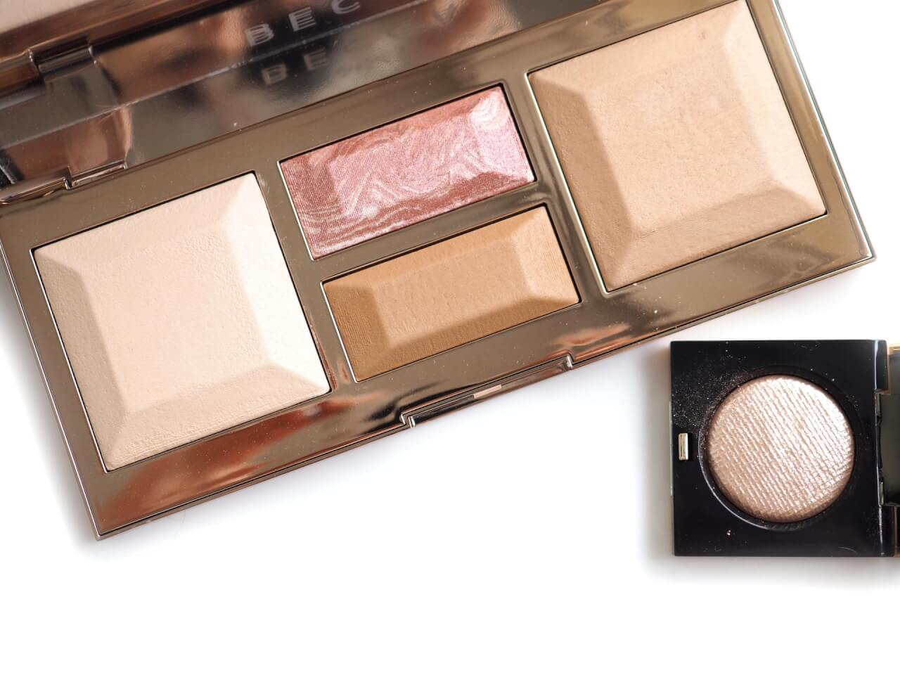 BECCA Be A Light Palette + BOBBI BROWN Moonstone Luxe Eyeshadow Rich Sparkle