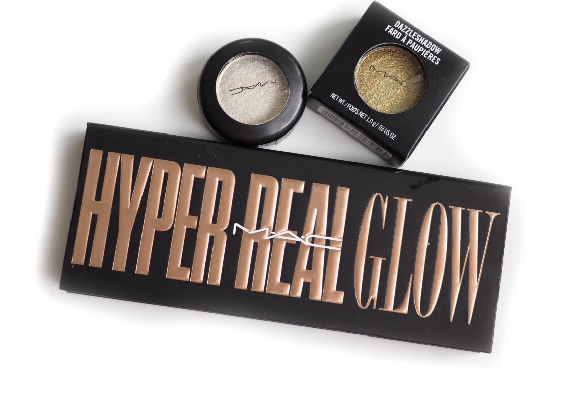 MAC Hyper Real Glow Flash + Awe Highlighter + DAZZLESHADOW