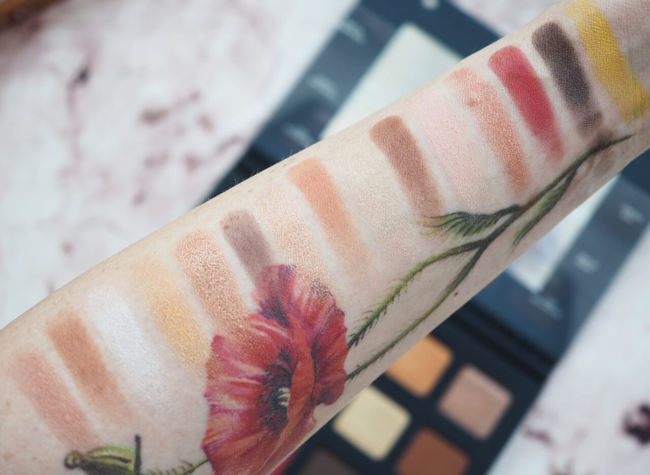 swatches Natasha Denona Sunset Palette