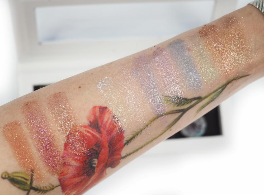 swatches Glam-Shop Turbo Pigmenty