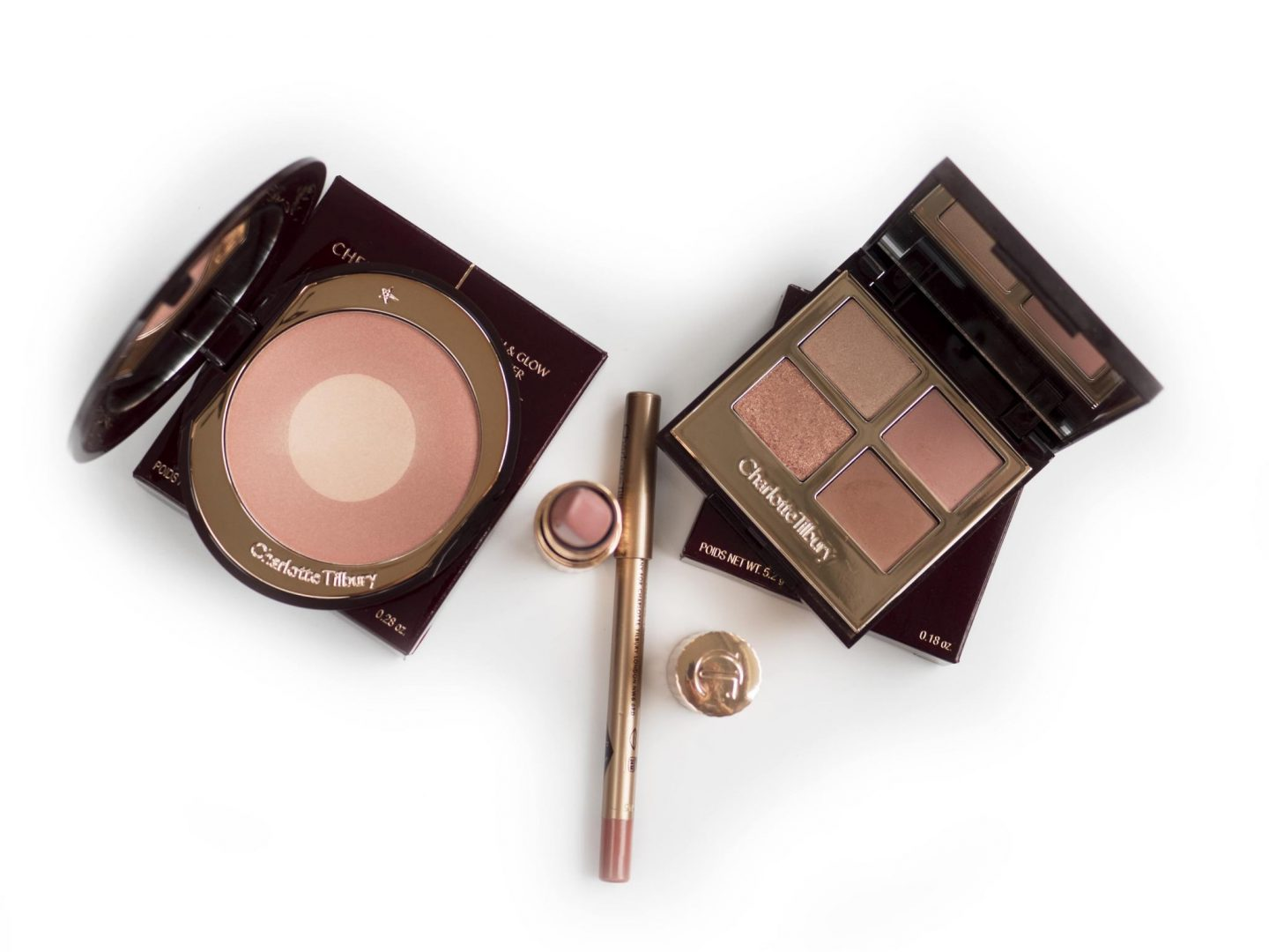 Charlotte Tilbury Pillow Talk Collection – Luxury Eyeshadows/ Cheek to Chic / Matte Revolution / Lip Cheat
