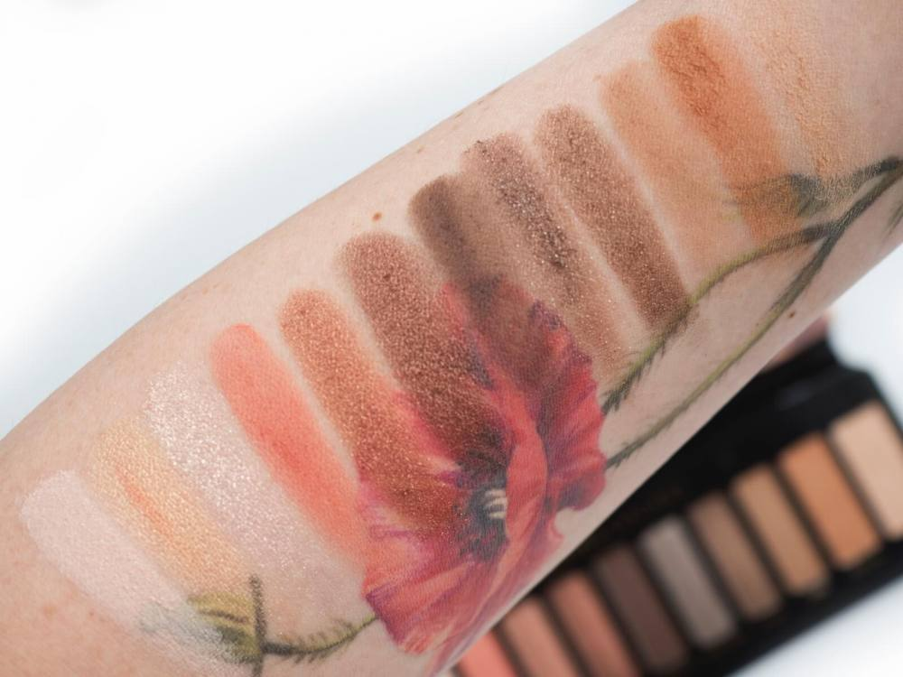 swatches Urban Decay Naked Reloaded Palette