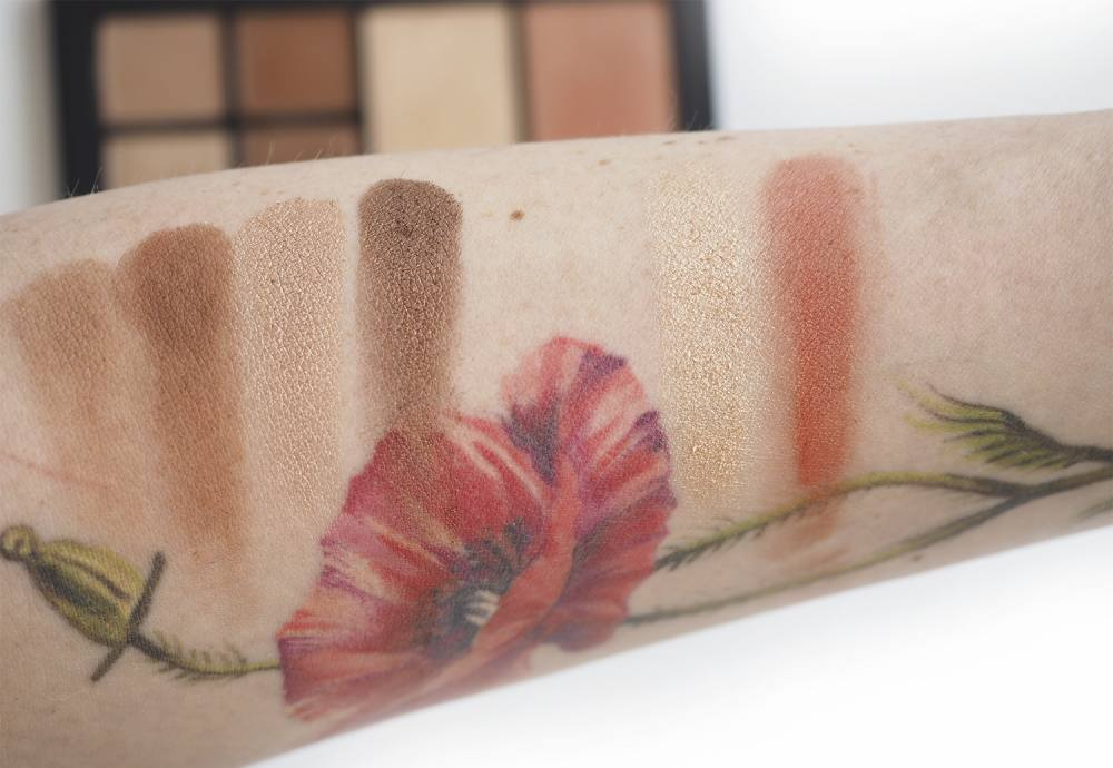 swatches Nars Wild Thing Face Palette