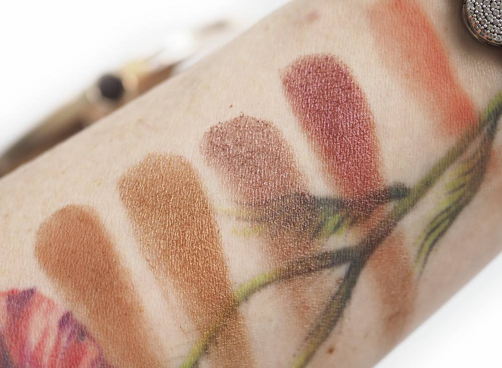 Swatches Estee Lauder Bronze Goddess Desert Heat Eyeshadow