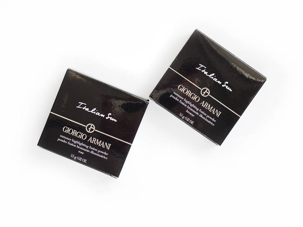 Puder Armani Italian Sun Highlighting Fusion Powder