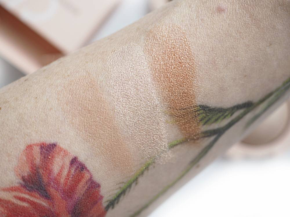 Swatches Golden Rose Nude Look Cienie