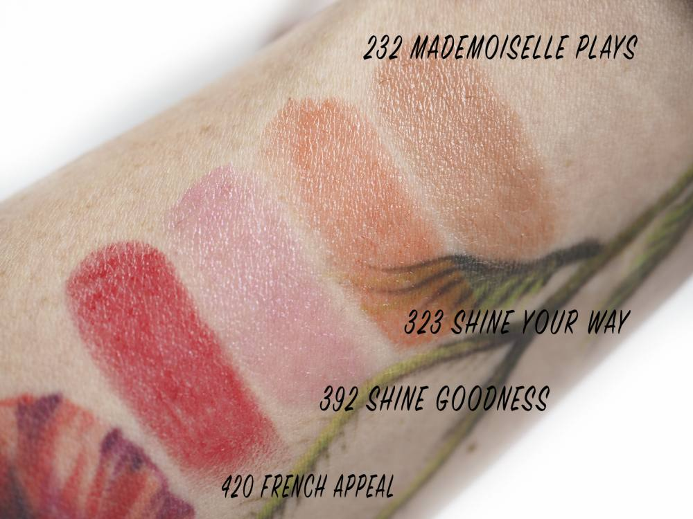 Swatches Lancome L'Absolu Mademoiselle Shine
