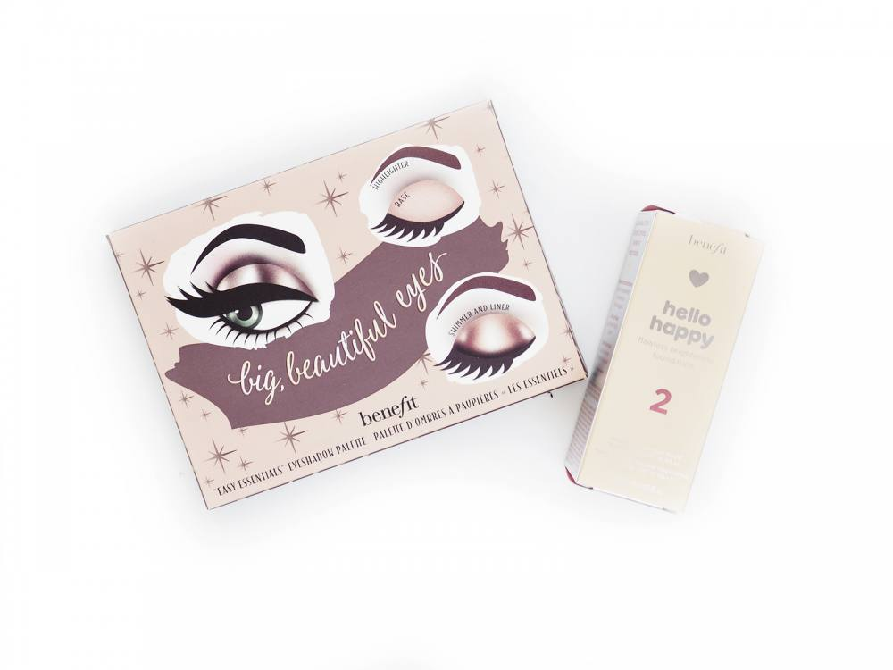 Nowości BENEFIT – Hello Happy Flawless Brightening Foundation + Big Beautiful Eyes Palette