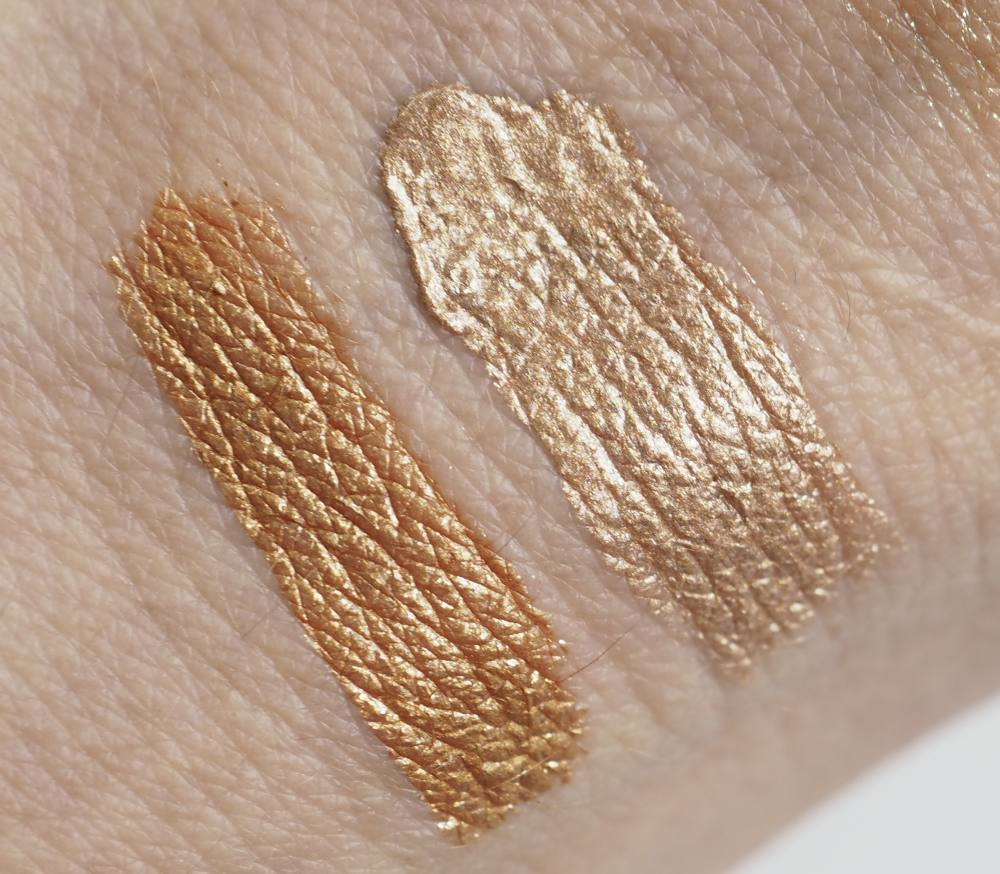 Swatches Natasha Denona Chroma Crystal Liquid Eyeshadow
