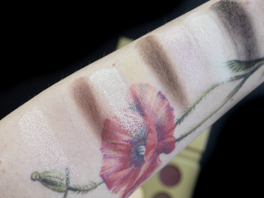 swatches Ibra Makeup Palette by Ewelina Zych