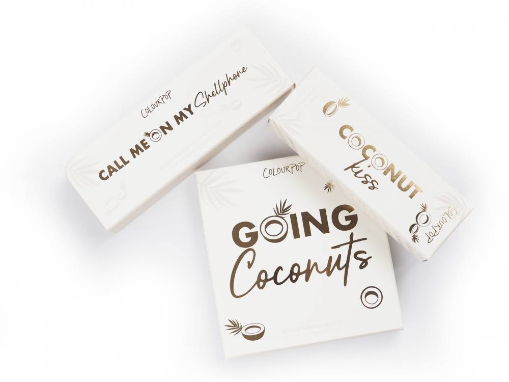 Colourpop Going Coconuts Eyeshadow Palette, Coconut Kiss! + Super Shock Shadows Call Me On My Cellphone