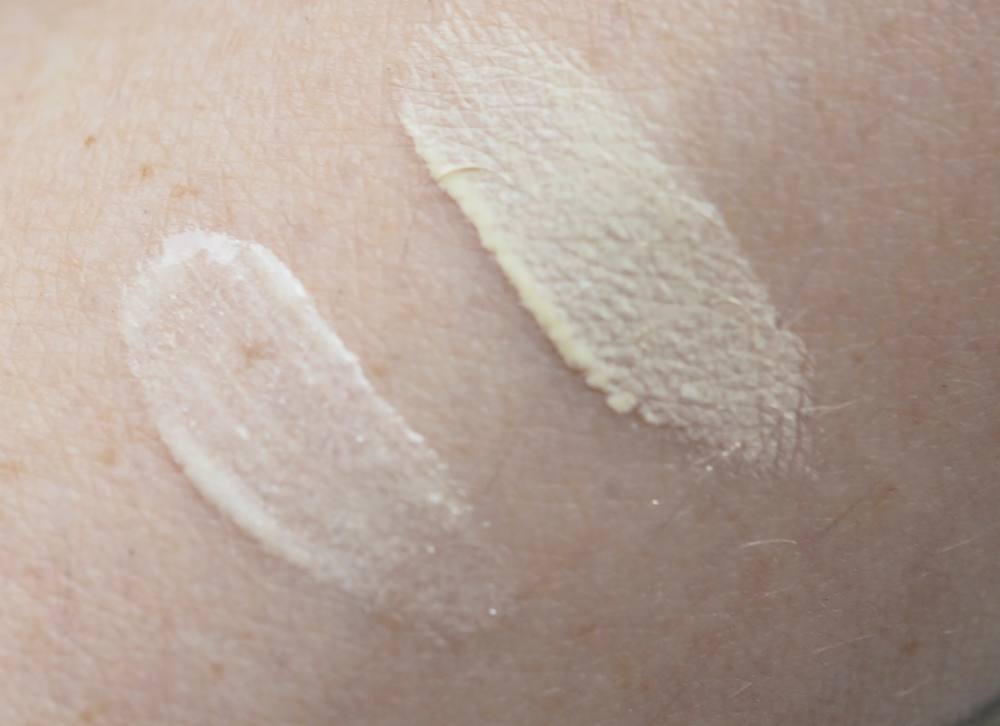 swatch Inglot Coverup & Highlight Duo