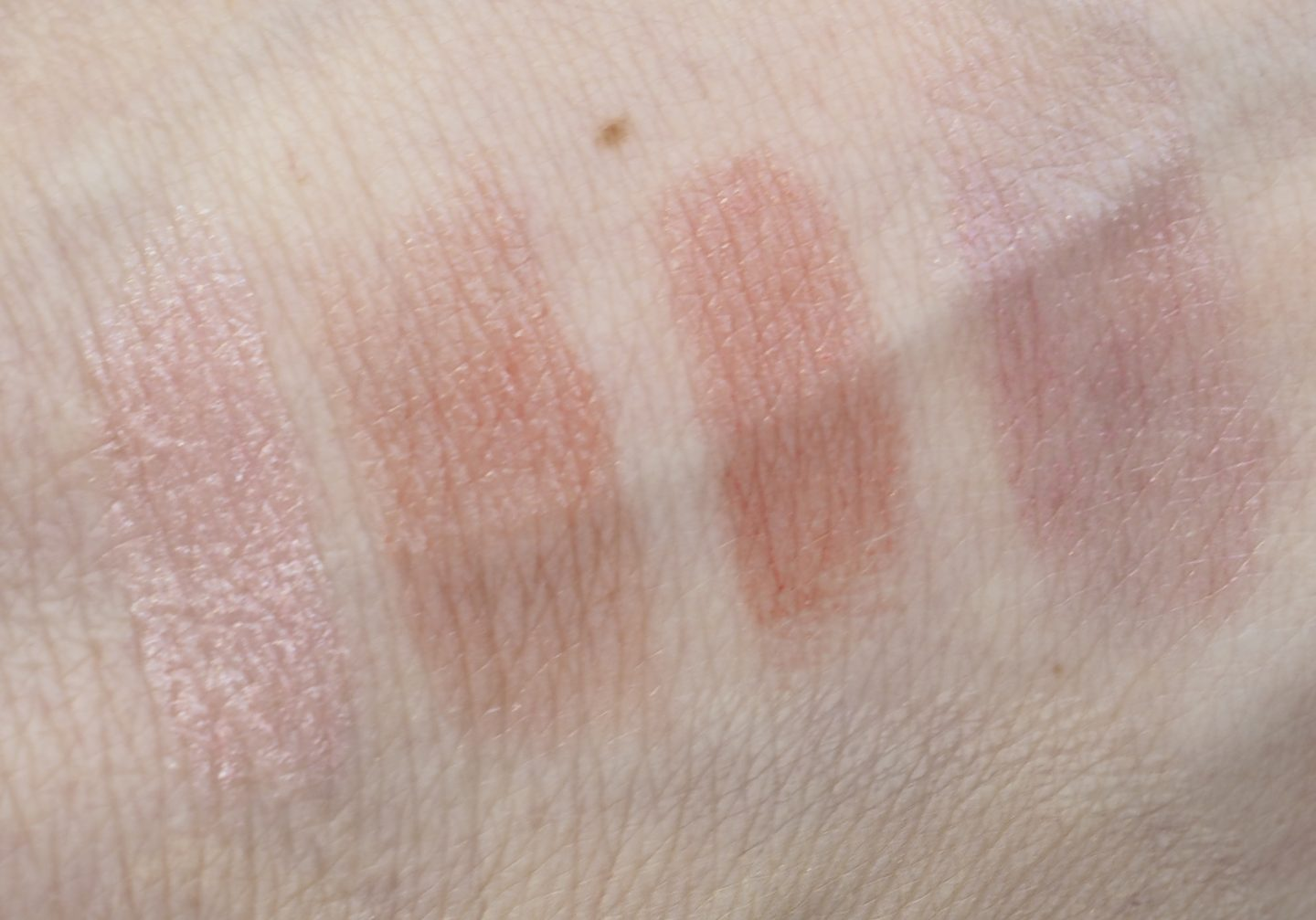 Swatches Burt's Bees Lip Shimmer